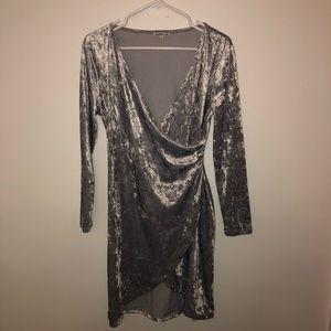 Charolette Russe Velvet Slit Dress